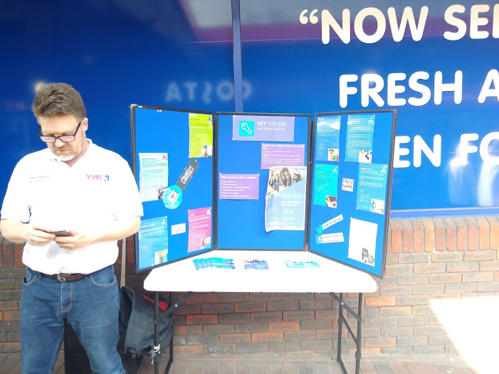 The YMCA stall at the Albion Centre
