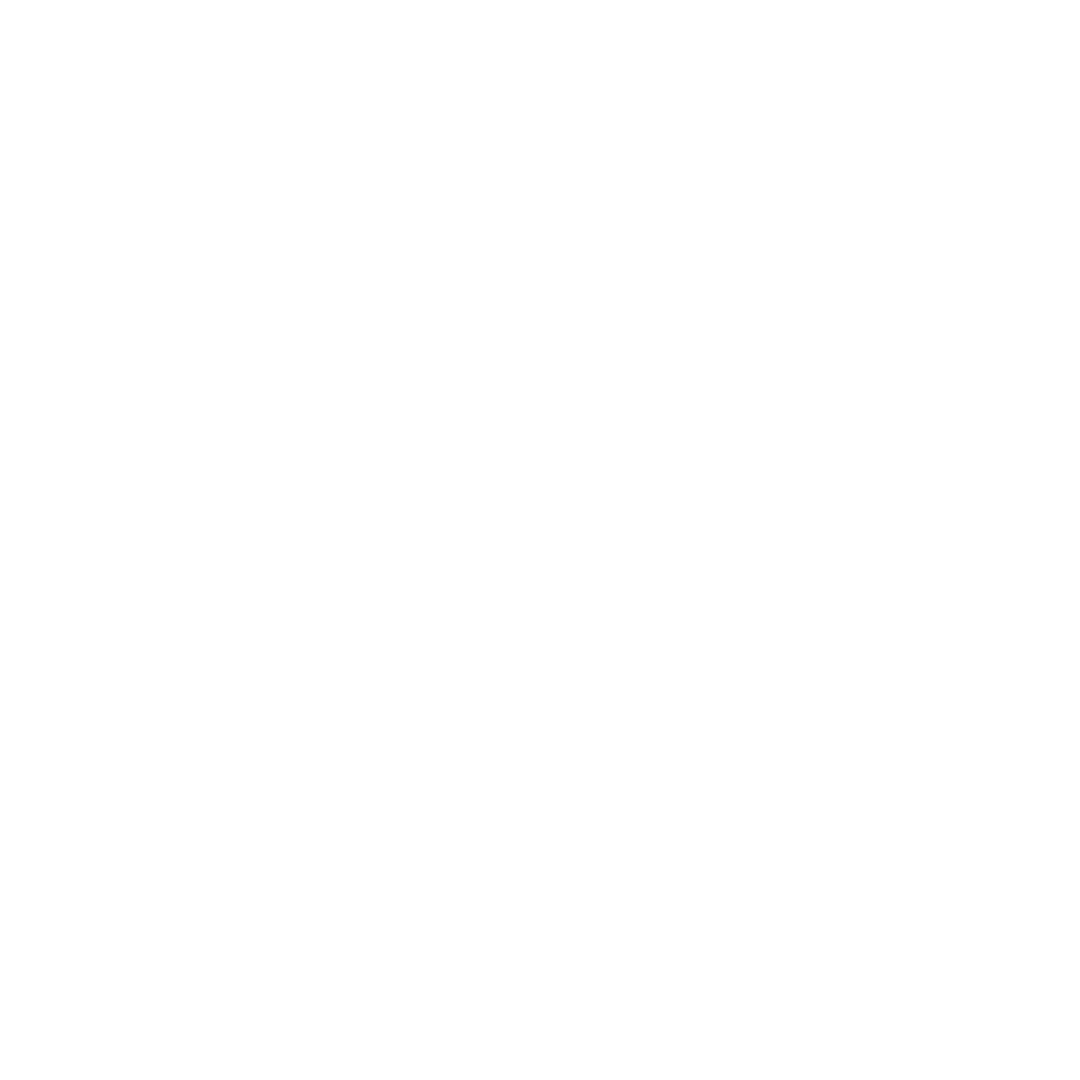 The logo of Debra Charity Shop in white